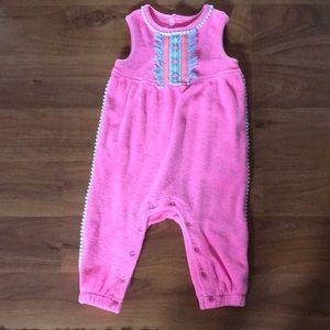 Baby girl Neon pink jumpsuit